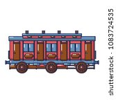 medieval passenger wagon icon.... | Shutterstock .eps vector #1083724535