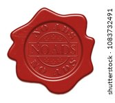 no ads   wax red seal with text ... | Shutterstock . vector #1083732491