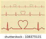 Vector Heart Electrocardiogram...