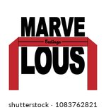 marvelous feelings slogan and... | Shutterstock .eps vector #1083762821