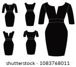 woman dresses fashion | Shutterstock .eps vector #1083768011