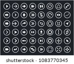 arrow signs and icons set ... | Shutterstock .eps vector #1083770345