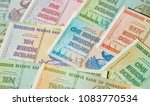 banknotes of zimbabwe after... | Shutterstock . vector #1083770534