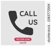 filled call us symbol vector...