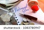 retirement plan savings money... | Shutterstock . vector #1083780947