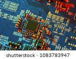 electronic circuit board close... | Shutterstock . vector #1083783947