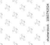 vector seamless silhouette... | Shutterstock .eps vector #1083792524