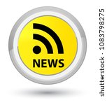 news  rss icon  isolated on...   Shutterstock . vector #1083798275