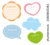 collection of vector colored... | Shutterstock .eps vector #1083803381