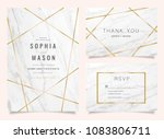 luxury wedding invitation cards ... | Shutterstock .eps vector #1083806711
