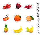 fruit and berries set vector... | Shutterstock .eps vector #1083808607