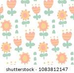 vector seamless pattern  cute...   Shutterstock .eps vector #1083812147
