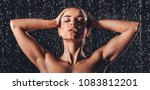 sexy woman in shower.... | Shutterstock . vector #1083812201