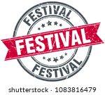 festival round grunge ribbon... | Shutterstock .eps vector #1083816479