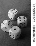 closeup of the dices on  table | Shutterstock . vector #1083830294