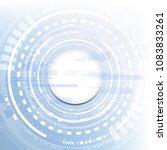 technological interface access...   Shutterstock .eps vector #1083833261