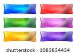 set of abstract rectangular... | Shutterstock .eps vector #1083834434