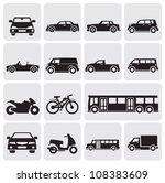 transportation set | Shutterstock .eps vector #108383609