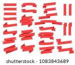 flat design ribbons and banners ...   Shutterstock .eps vector #1083843689