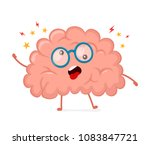 funny cute crazy mad sick brain.... | Shutterstock .eps vector #1083847721