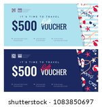 set of summer gift vouches for... | Shutterstock .eps vector #1083850697