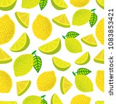 seamless background with lemons | Shutterstock .eps vector #1083853421