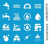 set of 16 water filled icons...   Shutterstock .eps vector #1083855974