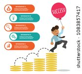 infographic banner with cartoon ... | Shutterstock .eps vector #1083857417