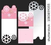laser cut invitation template... | Shutterstock .eps vector #1083859355
