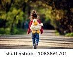 Little Toddler Girl Walking On...