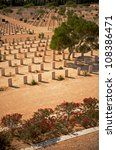 Small photo of War graves in the Saharan Desert at the Commonwealth Cemetery in El Alamein, Egypt