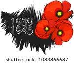 world war ii commemorative... | Shutterstock .eps vector #1083866687
