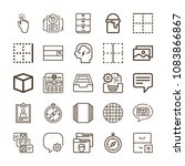 set of 25 interface outline... | Shutterstock .eps vector #1083866867