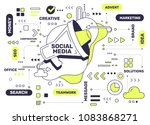 social media technology concept.... | Shutterstock .eps vector #1083868271