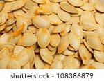 pumpkin seeds | Shutterstock . vector #108386879