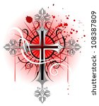 jeweler  gothic cross from...   Shutterstock .eps vector #108387809