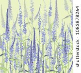 flower veronica. garden or... | Shutterstock .eps vector #1083878264