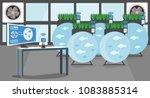 growing plants in the... | Shutterstock .eps vector #1083885314