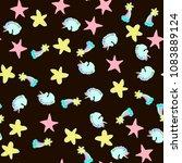 vector seamless pattern. hand... | Shutterstock .eps vector #1083889124