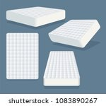mattress in different positions.... | Shutterstock .eps vector #1083890267