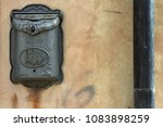 old antique metal mailbox on... | Shutterstock . vector #1083898259