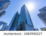 up view of modern office... | Shutterstock . vector #1083900227