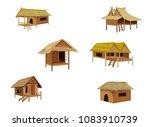 Grass Hut Vector Desing