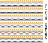 striped ethnic seamless pattern ... | Shutterstock .eps vector #1083911741