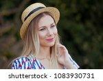 portrait of young beautiful... | Shutterstock . vector #1083930731