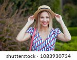 portrait of young beautiful... | Shutterstock . vector #1083930734