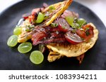 waffle gourmet breakfast dish... | Shutterstock . vector #1083934211