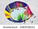 color on pattern abstract    Shutterstock . vector #1083938231