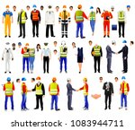 workers uniforms set  isolated... | Shutterstock .eps vector #1083944711