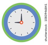 flat icon design of wall clock ... | Shutterstock .eps vector #1083946841